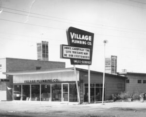 1950's picture of Village Plumbing